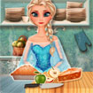 Elsa làm bánh táo