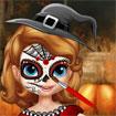 Sofia trang điểm Halloween