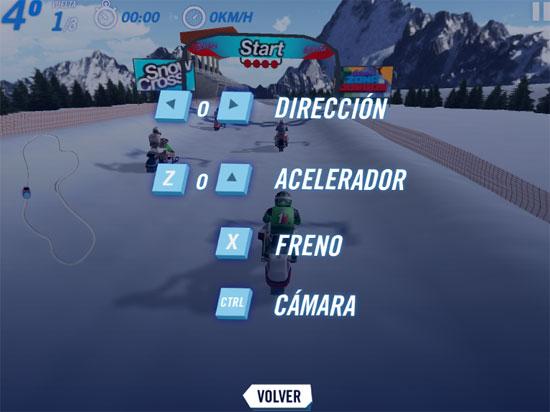 Đua xe trượt tuyết 3D