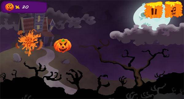 Màn hình chơi game Chém bí ngô Halloween