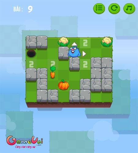 Màn hình chơi game Chuột chũi tìm đường