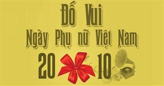 Đố vui ngày Phụ nữ Việt Nam