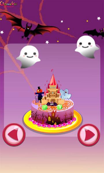 Chọn kiểu bánh trong game Trang trí bánh Halloween