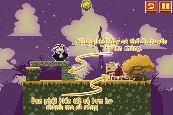 Cách chơi game Halloween Ma cà rồng