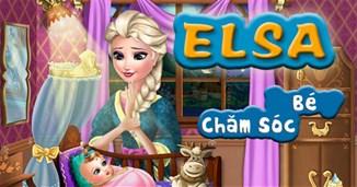 Elsa chăm sóc bé