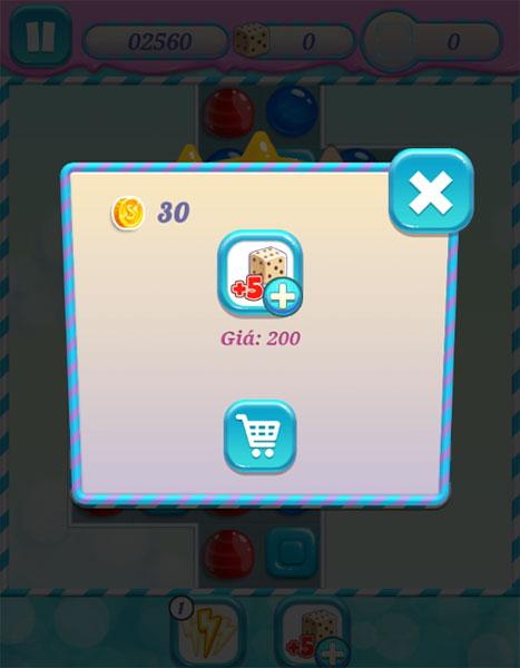Mua vật phẩm trong Xếp kẹo ngọt online 3