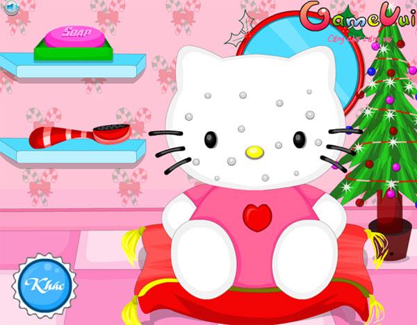 Làm đẹp cho Hello Kitty đón giáng sinh