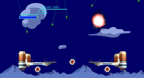 Màn hình chơi game Chỉ huy không gian