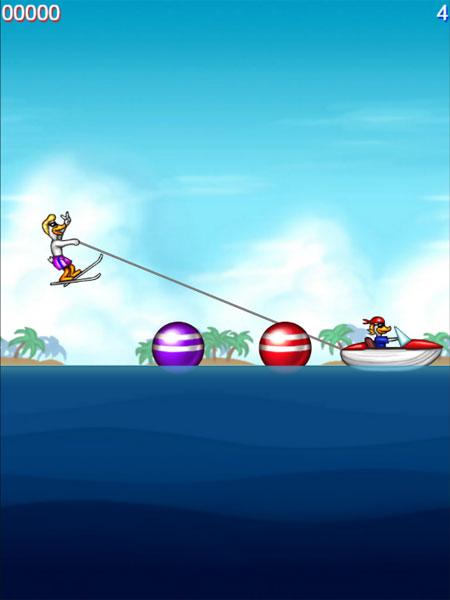 Màn hình chơi game Vịt lướt ván