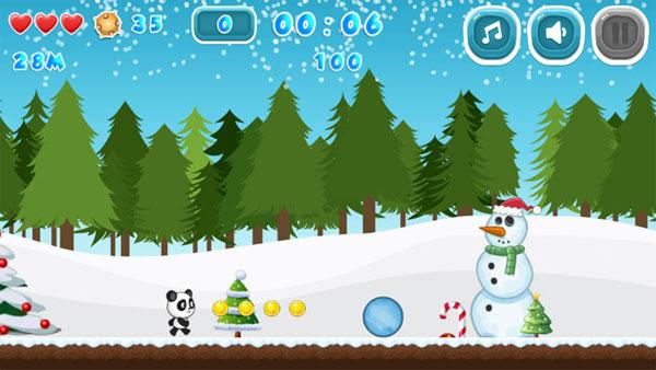 Màn hình chơi game Giáng sinh của Panda