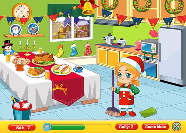 Dọn bếp trong Giáng sinh dọn nhà