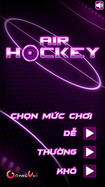 Chọn mức chơi Air Hockey Online