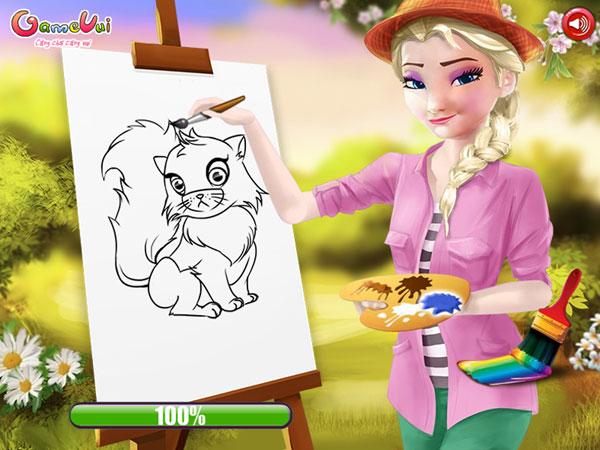 Chơi game Elsa dạy vẽ