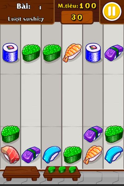 Màn hình chơi game Xếp hình Sushi