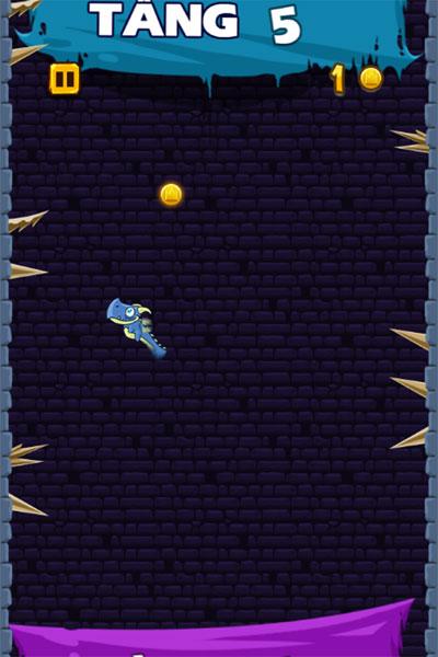Màn hình chơi game Rồng leo tháp