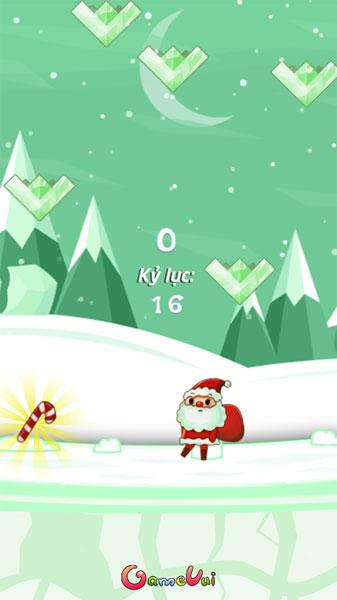 Màn hình chơi game Santa nhặt quà Noel