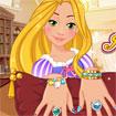 Rapunzel chăm sóc tay