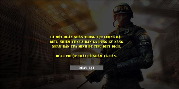 Cách chơi game Lực lượng Swat