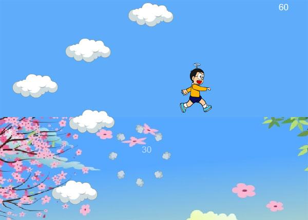 Bắt đầu chơi game Nobita vút bay