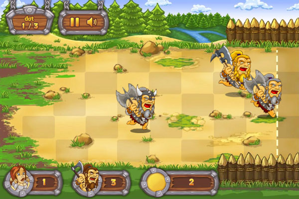 Màn hình chơi  gameThợ săn Barbarian