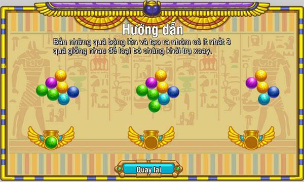 Cách chơi Bắn bóng Ai Cập
