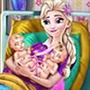 Elsa sinh em bé 4