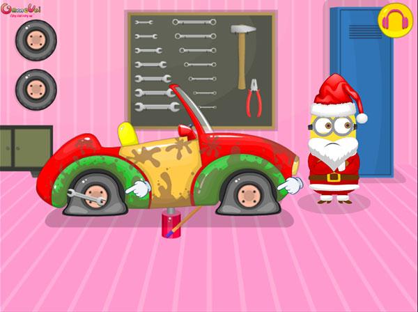 Santa Minion Christmas Car - Game Vui
