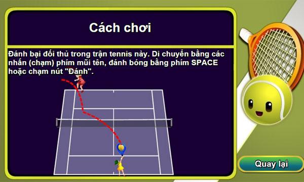Cách chơi Tennis Online