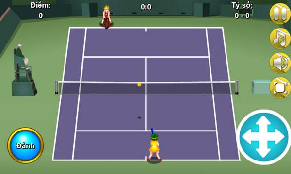Màn hình chơi game Tennis Online