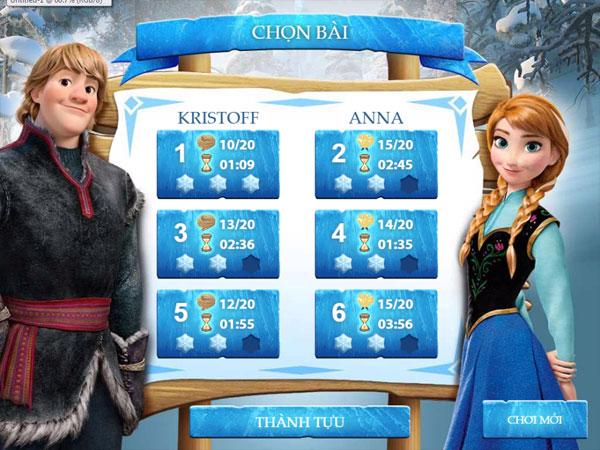 Chọn bài chơi game Nữ hoàng băng giá