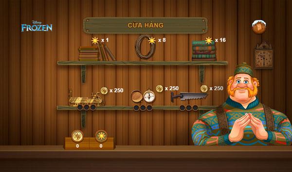 Cửa hàng nâng cấp trong Kristoff làm giàu