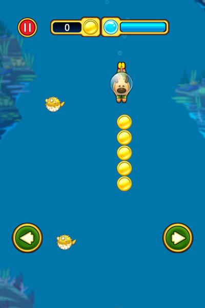 Chơi game Cún con tập lặn