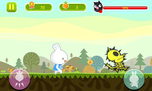 Chơi game Thỏ trắng truy đuổi