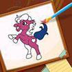 Tô màu ngựa con 2