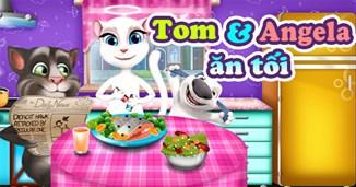 Tom và Angela ăn tối