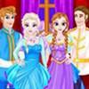 Elsa và Anna dự tiệc