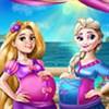 Elsa và Rapunzel: Trang phục bà bầu