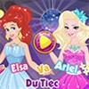 Elsa và Ariel dự tiệc