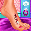 Moana trị thương chân