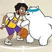 Anh em nhà gấu trúc: Thi đấu bóng rổ
