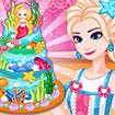 Công chúa Elsa làm bánh