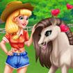 Audrey chăm sóc ngựa con