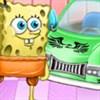 SpongeBob rửa xe