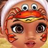 Công chúa Moana vẽ mặt