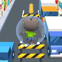 Mèo Talking Tom chơi Subway Surfer