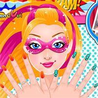 Super Barbie's Manicure