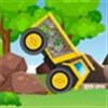 Lái xe chuyển đá