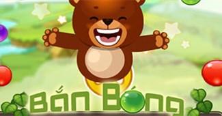 Gấu con bắn bóng