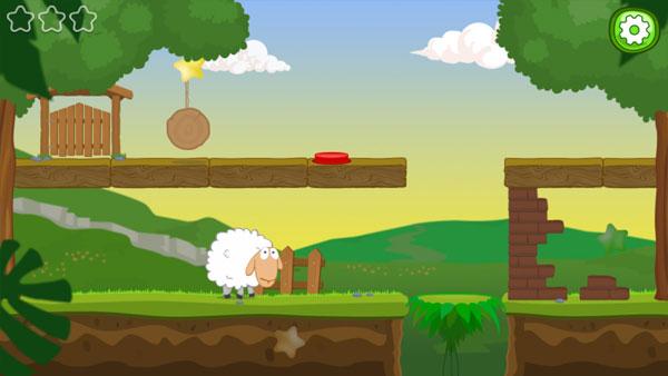 Màn hình chơi game Cừu trắng về nhà