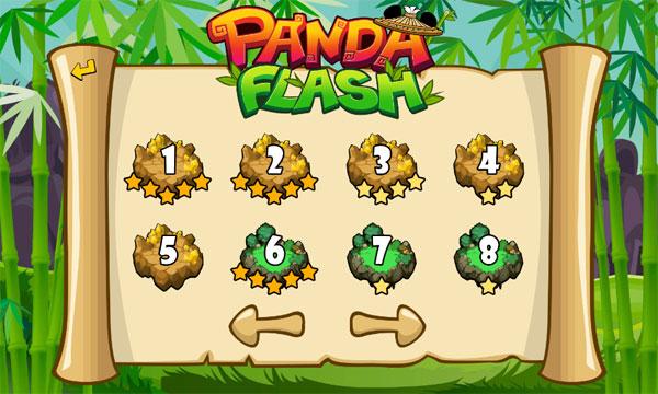 Chọn level trong Kiếm khách Panda